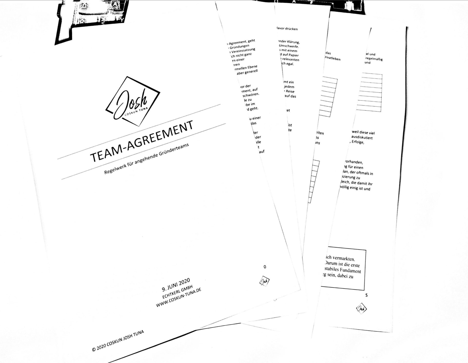 Team Agreement Josh